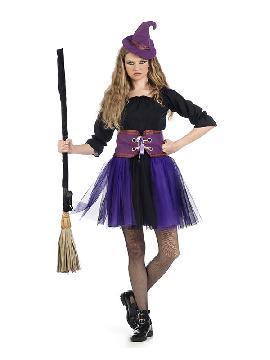 disfraz de bruja tutu mujer