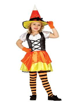 disfraz de brujita caramelo para niña