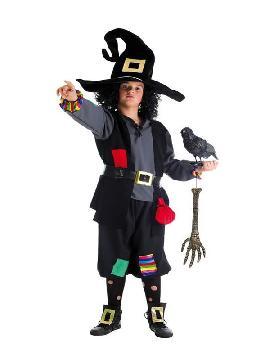 disfraz de brujo colorines para niño