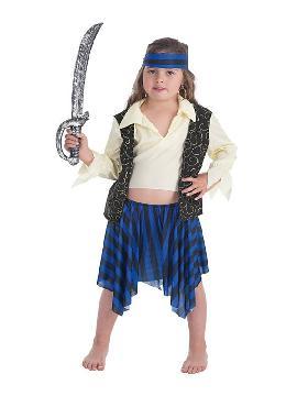 disfraz de bucanera brocado para niña