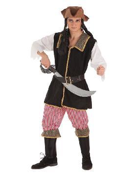 disfraz de bucanero a rayas para hombre