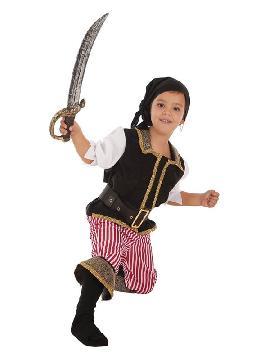 disfraz de bucanero a rayas para niño