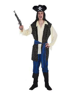 disfraz de bucanero brocado para hombre