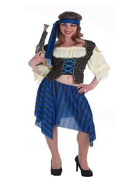 disfraz de bucanero brocado para mujer