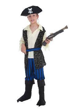 disfraz de bucanero brocado para niño