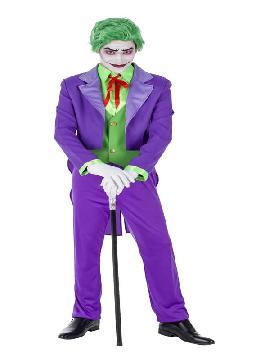 disfraz de bufon joker malvado hombre