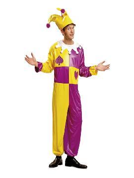 disfraz de bufon o joker para hombre