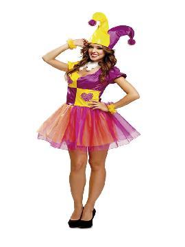 disfraz de bufona o joker para mujer