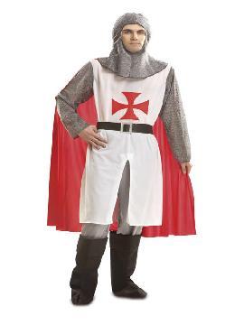 disfraz de caballero cruz roja hombre