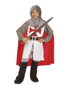 disfraz de caballero cruz roja niño