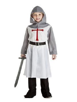 disfraz de caballero medieval blanco niño