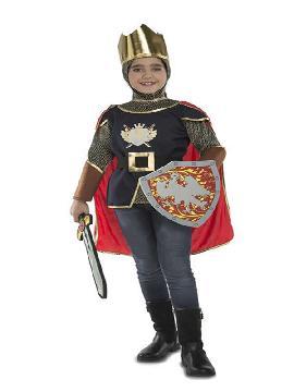 disfraz de caballero medieval con accesorios niños
