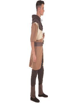 disfraz de caballero medieval marron para hombre