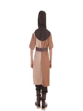 disfraz de caballero medieval marron para niño