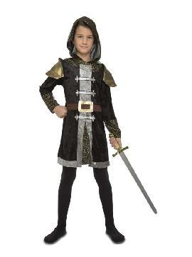 disfraz de caballero medieval negro niño