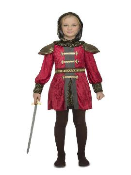 disfraz de caballero medieval rojo niño