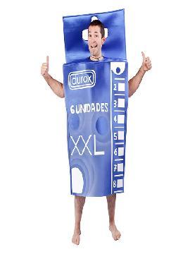 disfraz de caja de condones para hombre