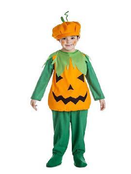 disfraz de calabaza halloween para niño
