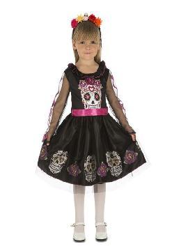 disfraz de calaverita negra para niña