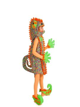 disfraz de camaleon para niño infantil