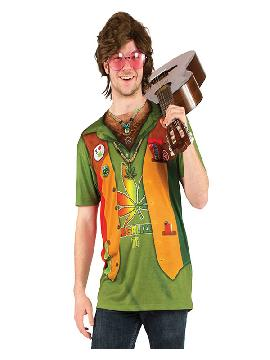 disfraz de camiseta hippie hombre