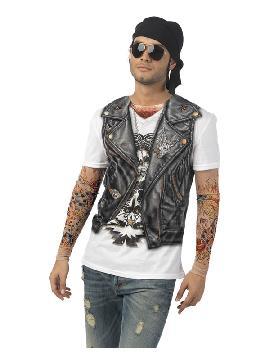 disfraz de camiseta motero para hombre