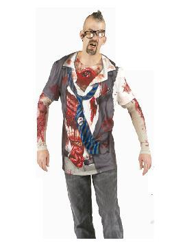 disfraz de camiseta zombie hombre
