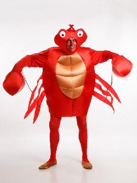 disfraz de cangrejo rojo hombre adulto