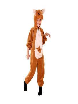 disfraz de canguro para niño infantil. Te sentirás el marsupial más maternal en todas tus fiestas temáticas o carnaval. Coge a tu bebé y pásatelo en grande allá donde vayáis con este original disfraz de animalito.
