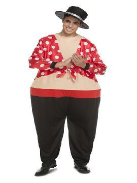 disfraz de cantaor flamenco gordo para hombre