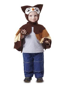 disfraz de capa buho niño