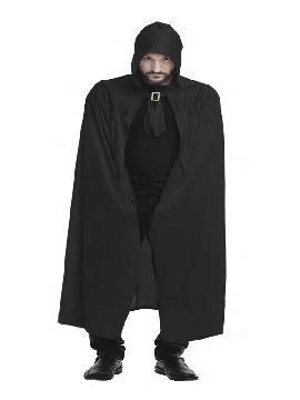 disfraz de capa negra de punto adulto