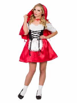 disfraz de caperucita roja con corset mujer