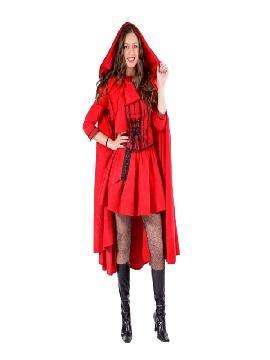 disfraz de caperucita roja deluxe mujer