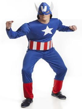 disfraz de capitan america barato hombre