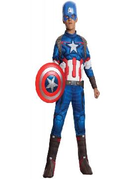disfraz de capitan america vengadores deluxe para niño