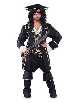 disfraz de capitan pirata negro hombre