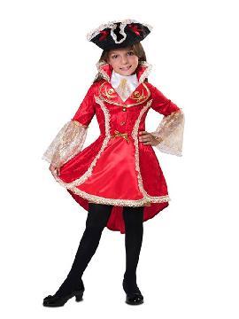 disfraz de capitana corsaria para niña