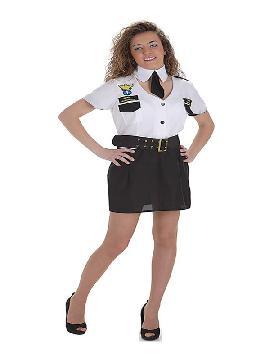disfraz de capitana de avion para mujer