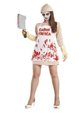 disfraz de carnicera asesina mujer