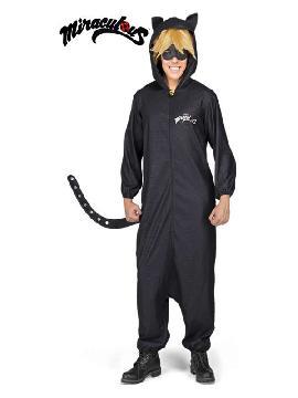 disfraz de cat noir pijama de ladybug para hombre