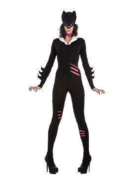 disfraz de cat woman para mujer. Serás las chica de batman más sexy por un día, elige este look para ser una mujer gato en fiestas temáticas o carnaval. Este disfraz es ideal para tus fiestas temáticas de disfraces de animales, sexy para adulto.