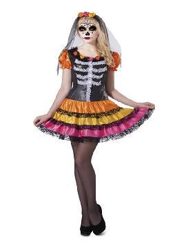 disfraz de catrina esqueleto para mujer