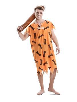 disfraz de cavernicola con huesos hombre