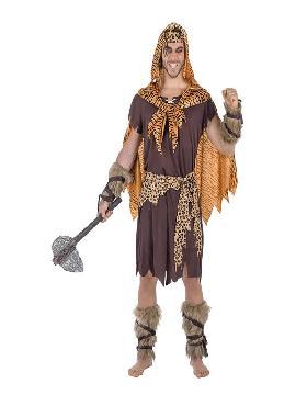 disfraz de cavernicola deluxe hombre