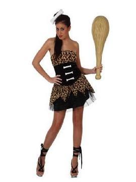 disfraz de cavernicola sexy mujer. Te sentirás como una auténtica mujer de las cavernas con sexys braguitas. Ideal para carnaval y fiestas temáticas de disfraces. Este disfraz es ideal para tus fiestas temáticas de disfraces de cavernicolas y trogloditas para adultos.