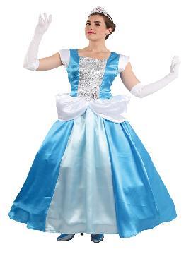 disfraz de cenicienta para mujer. Compra tu disfraz barato mujer adulto para tu grupo. Este traje es ideal para tus fiestas temáticas de princesa cenicienta de cuento.