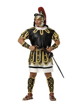 Disfraz de centurión romano negro deluxe hombre. Te sentirás como un auténtico guerrero de la Roma Clásica y revivirás las conquistas del fastuoso Imperio Romano. Este disfraz es ideal para tus fiestas temáticas de disfraces romanos y guerrero adulto. fabricación nacional