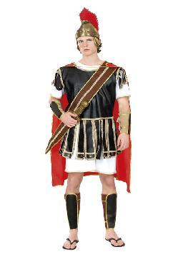Disfraz de centurión hombre adulto. También sirve como disfraz de Herodes para Navidad. Éste disfraz de Carnaval es ideal para divertirse en las Fiestas de Carnavales tan divertidas y estrambóticas como siempre y que cada vez se celebran en más Pueblos.Este disfraz es ideal para tus fiestas temáticas de disfraces romanos y egipcios para hombre adultos.