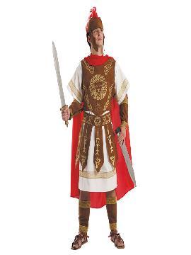 Disfraz de centurión romano deluxe hombre. Te sentirás como un auténtico guerrero de la Roma Clásica y revivirás las conquistas del fastuoso Imperio Romano. Este disfraz es ideal para tus fiestas temáticas de disfraces romanos y guerrero adulto. fabricación nacional